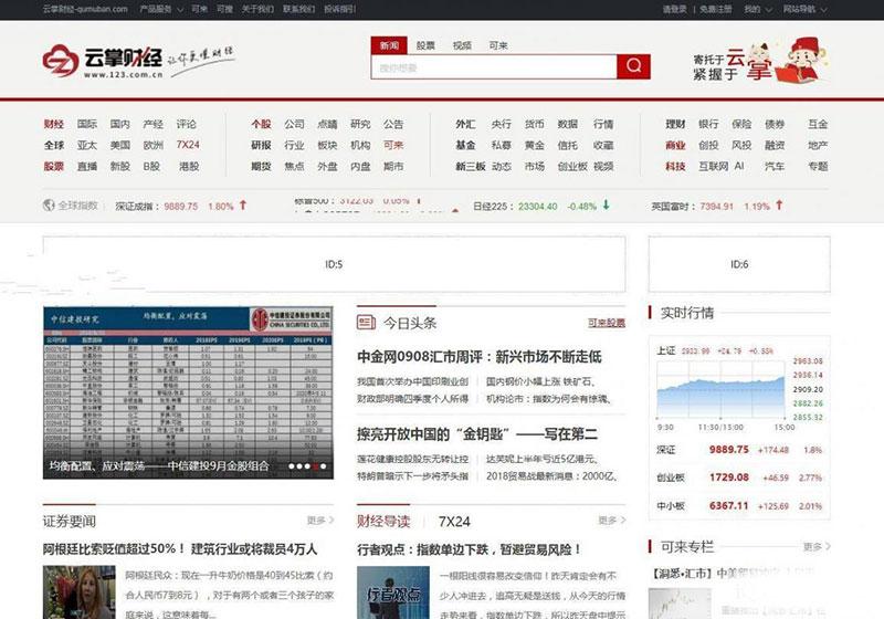 2020独家修复最新大型综合股票财经门户网站带火车头采集器[帝国cms]