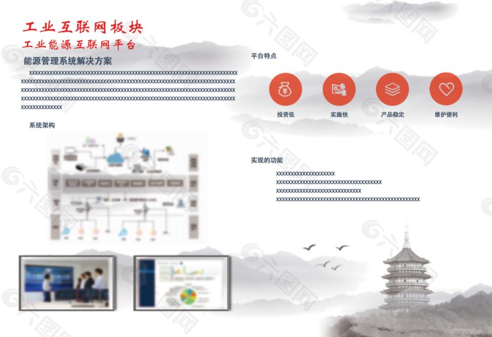 企业画册,中国风模板